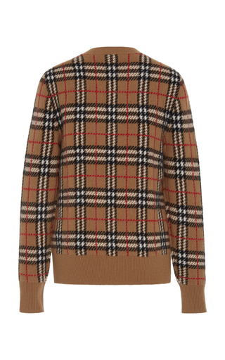 a1c06ba5f634ac Banbury Checked Cashmere Sweater by Burberry