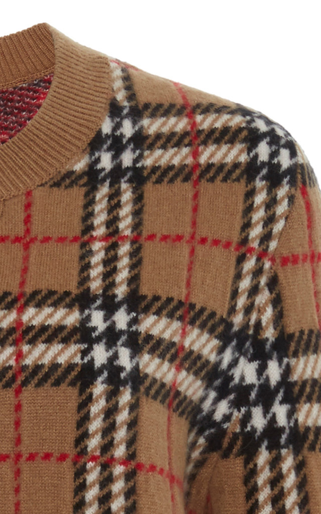 2aeb1d7f37b4f2 BurberryBanbury Checked Cashmere Sweater. CLOSE. Loading. Loading. Loading