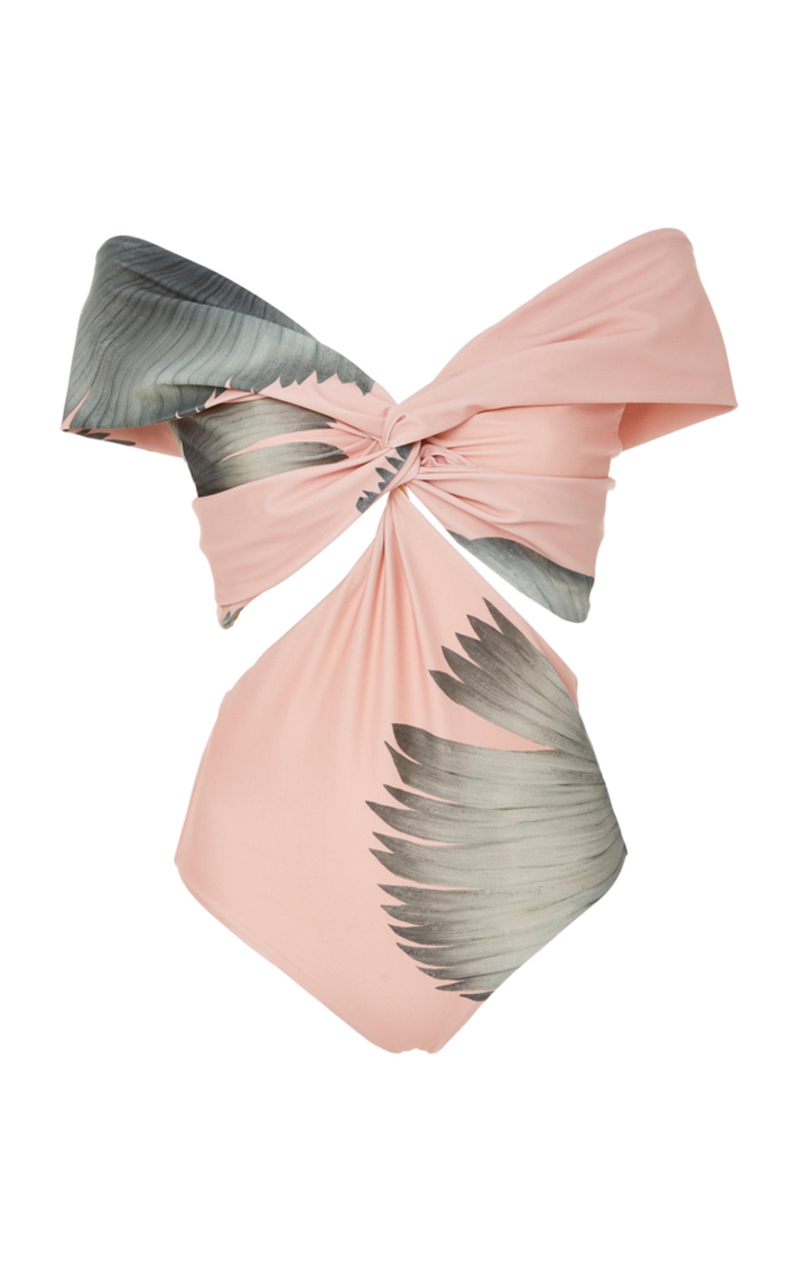 daeab3154f Off-The-Shoulder Printed Swimsuit by Johanna Ortiz   Moda Operandi