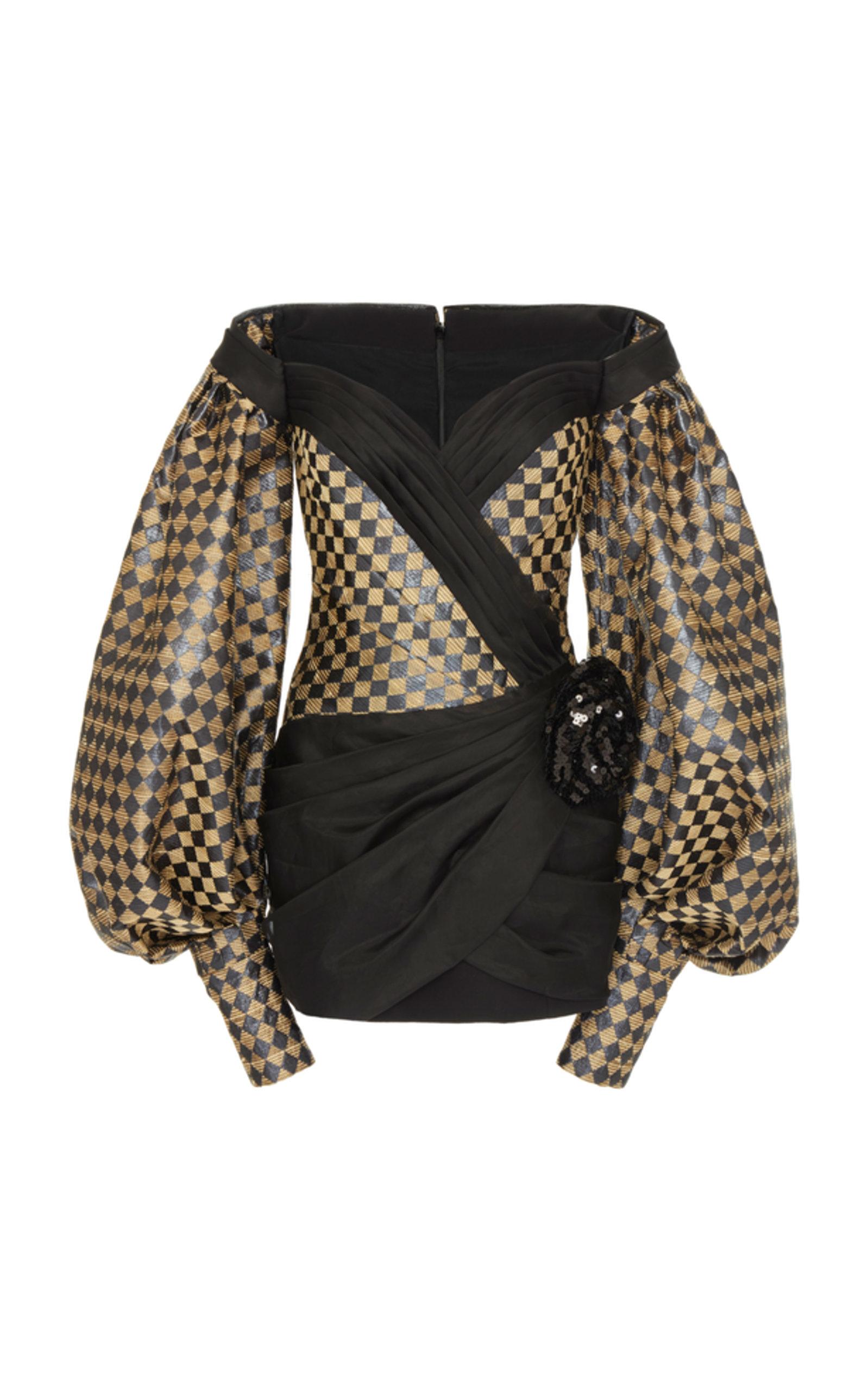 61cd4f35 Off Shoulder Balloon Sl Diamond Dress by Balmain | Moda Operandi