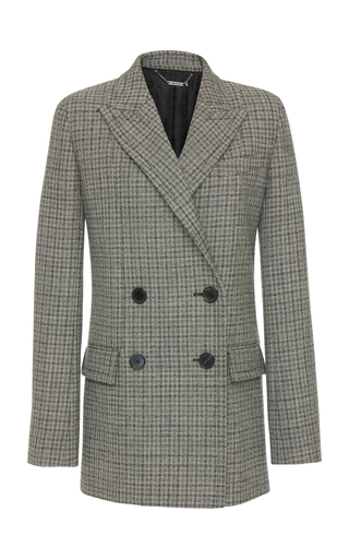 GIVENCHY | Givenchy Double-Breasted Checked Wool Blazer | Goxip