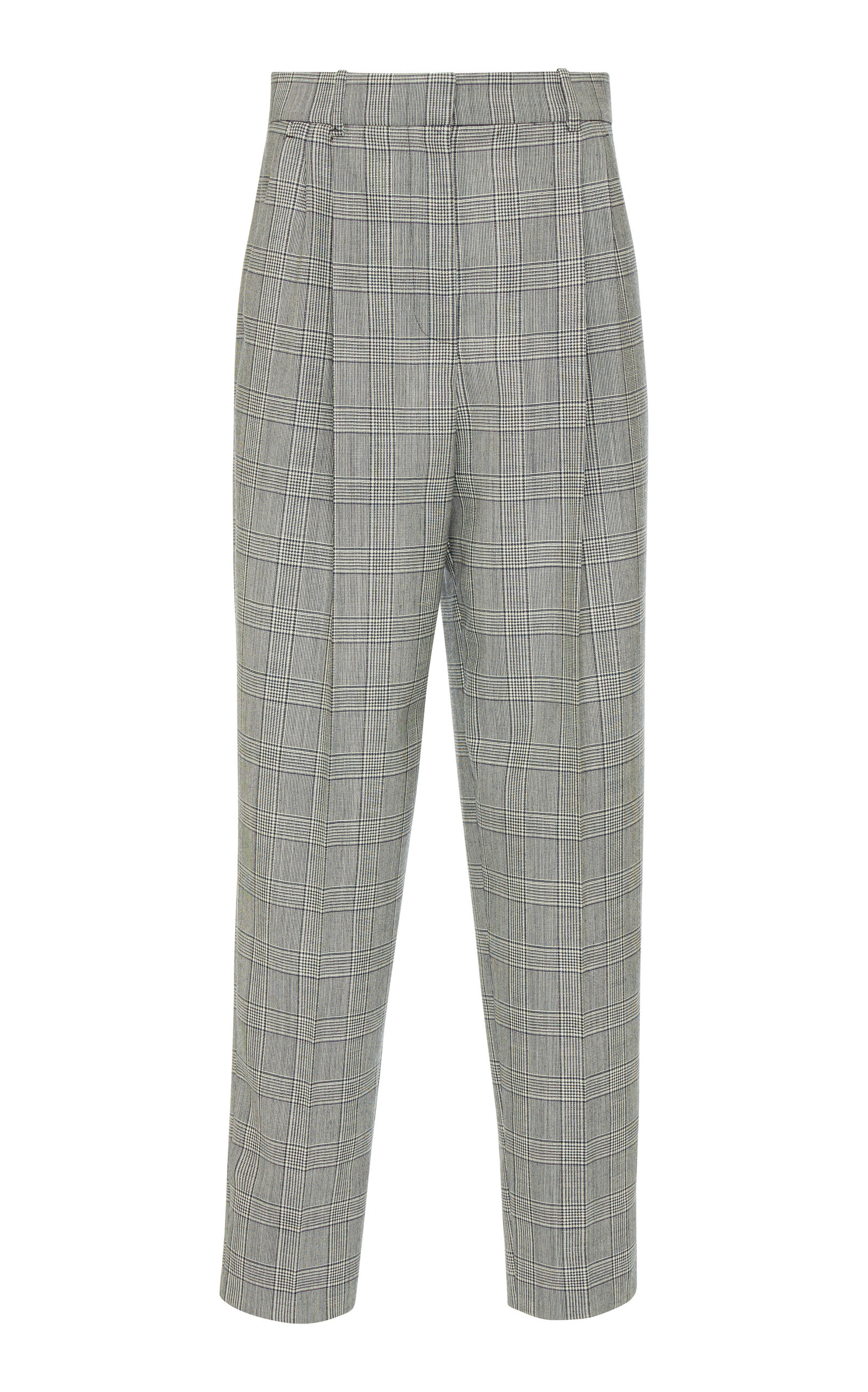 GIVENCHY | Givenchy Prince Of Wales Check Straight-Leg Wool Pants | Goxip