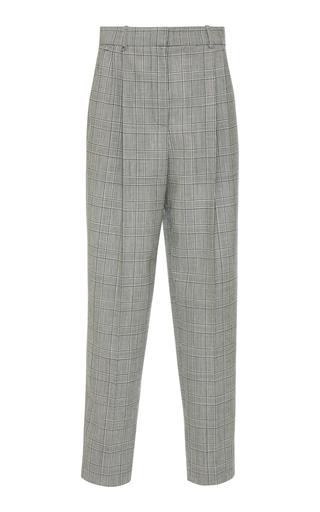 GIVENCHY | Givenchy Prince of Wales Check Straight-Leg Wool Pants | Goxip