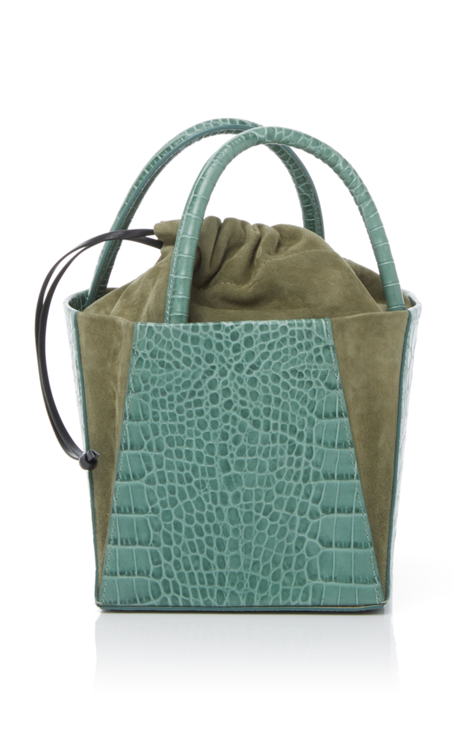 Crocodile Embossed Dorthea Box Bag Trademark HfuCmr