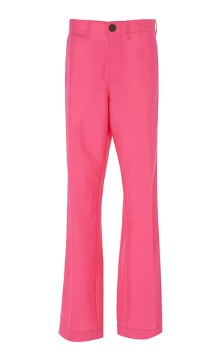LOEWE | Loewe Mohair and Wool-Blend Straight-Leg Pants | Goxip