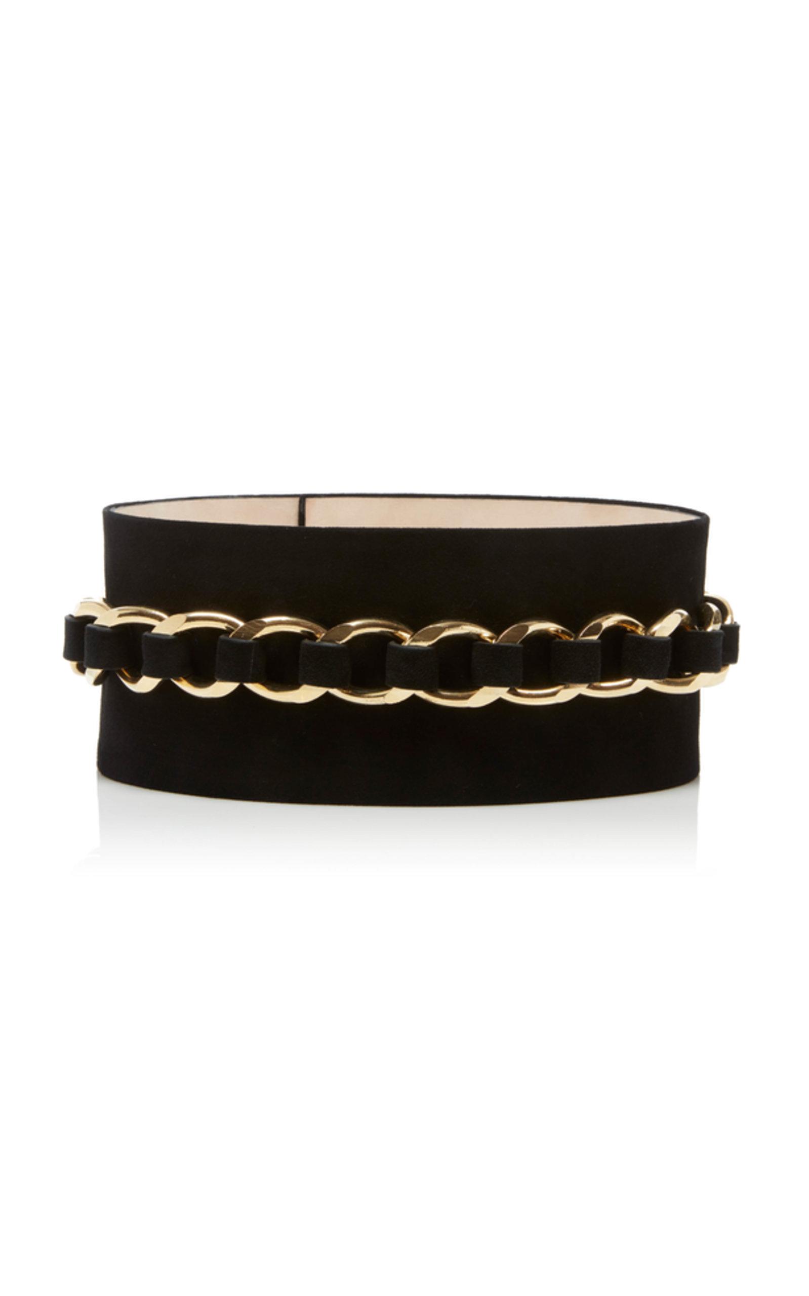 1caa7c2772 High Waist Large Chain Belt-Suede Leather by Balmain   Moda Operandi