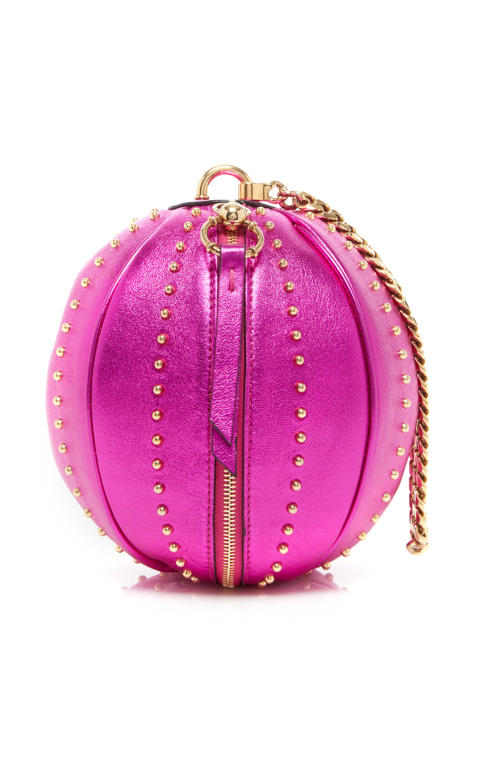 5dac4bcfea5 Balmain Laminated Lambskin Mini Moon Bag In Pink | ModeSens