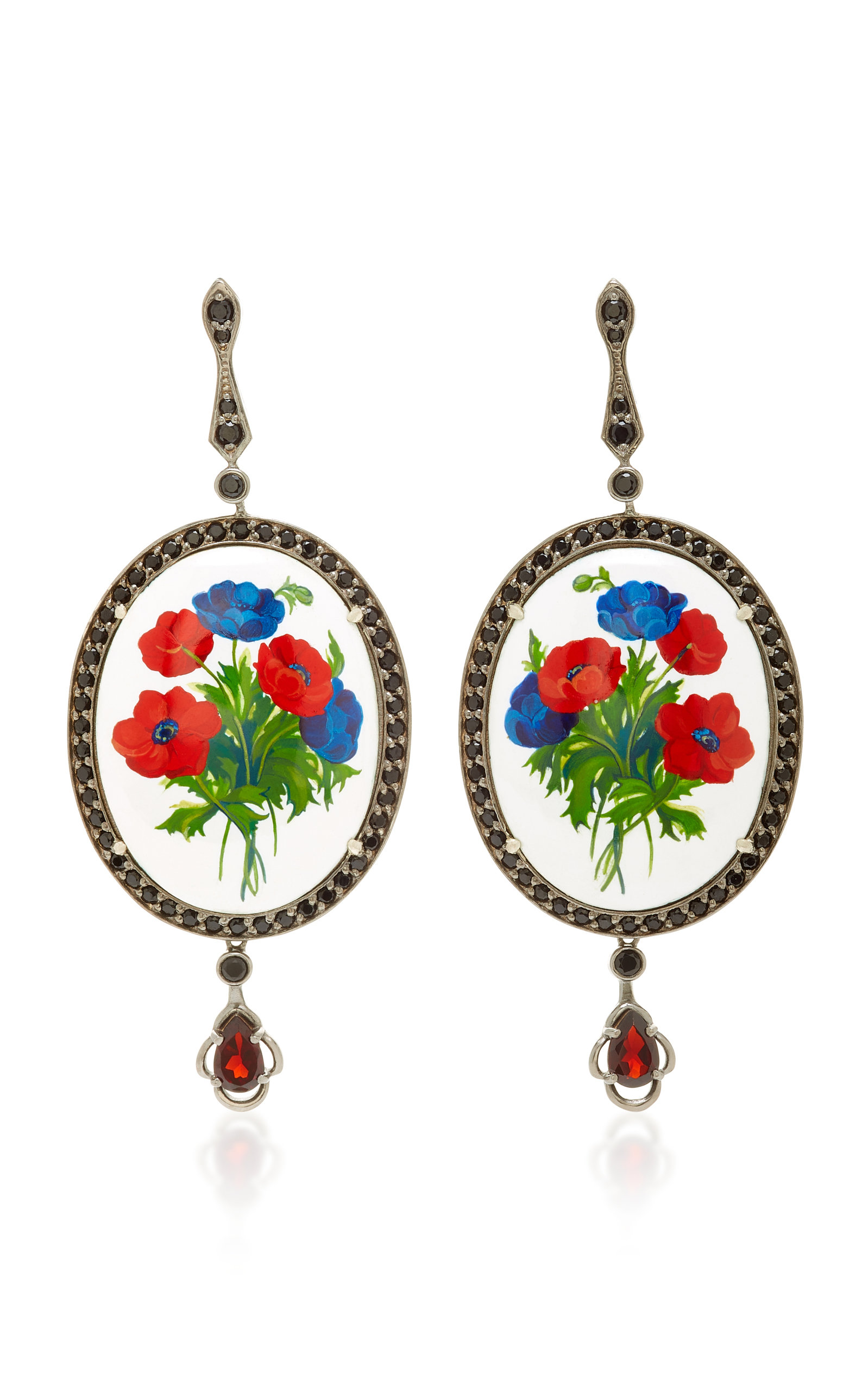 AXENOFF JEWELLERY OPIUM SILVER DROP EARRINGS