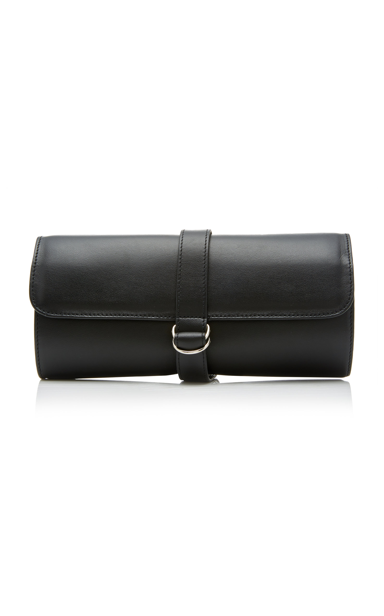 T. ANTHONY Leather Travel Jewelry Roll in Black