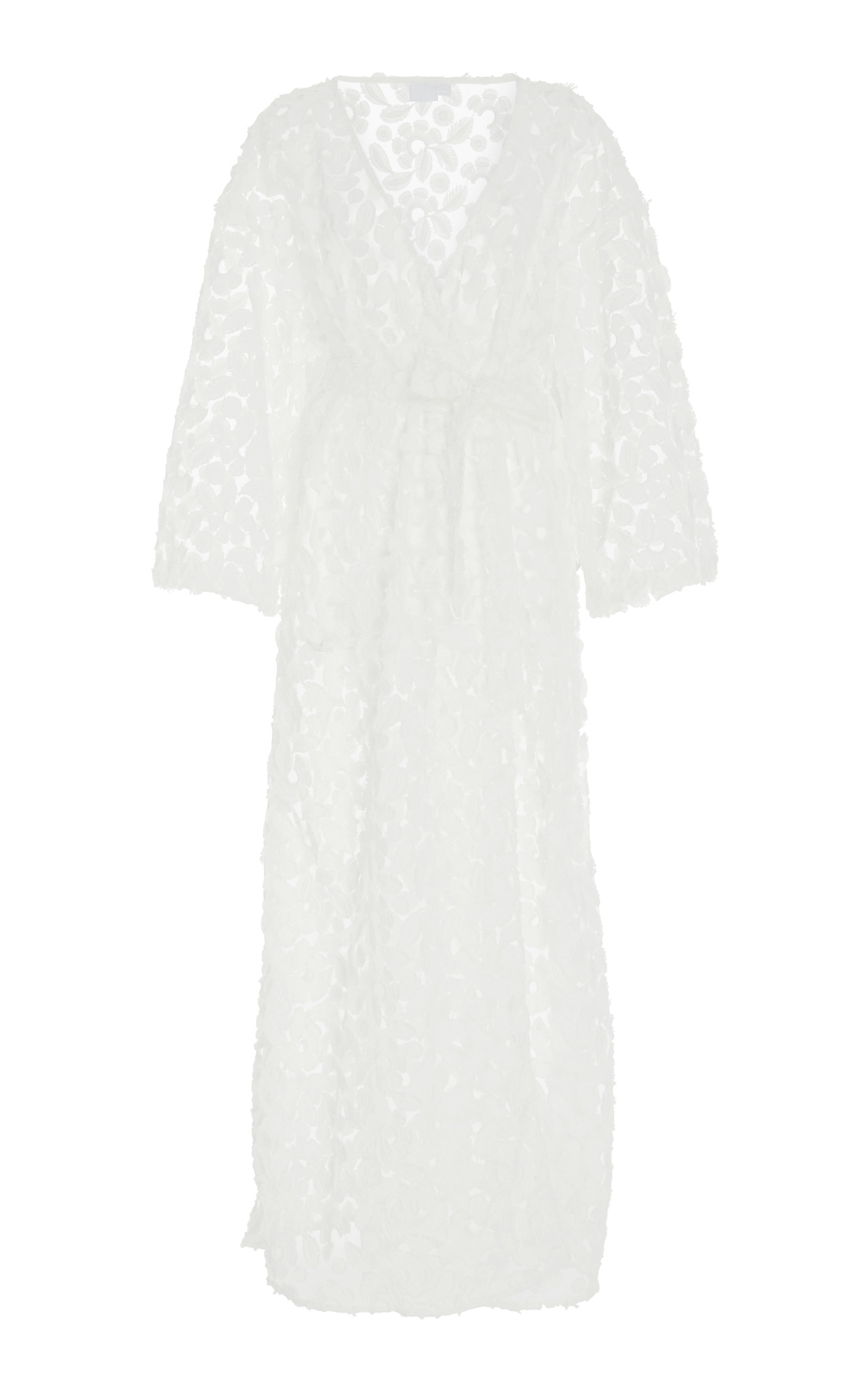 ONIA | Onia Meika Floral Embroidered Coverup Robe | Goxip