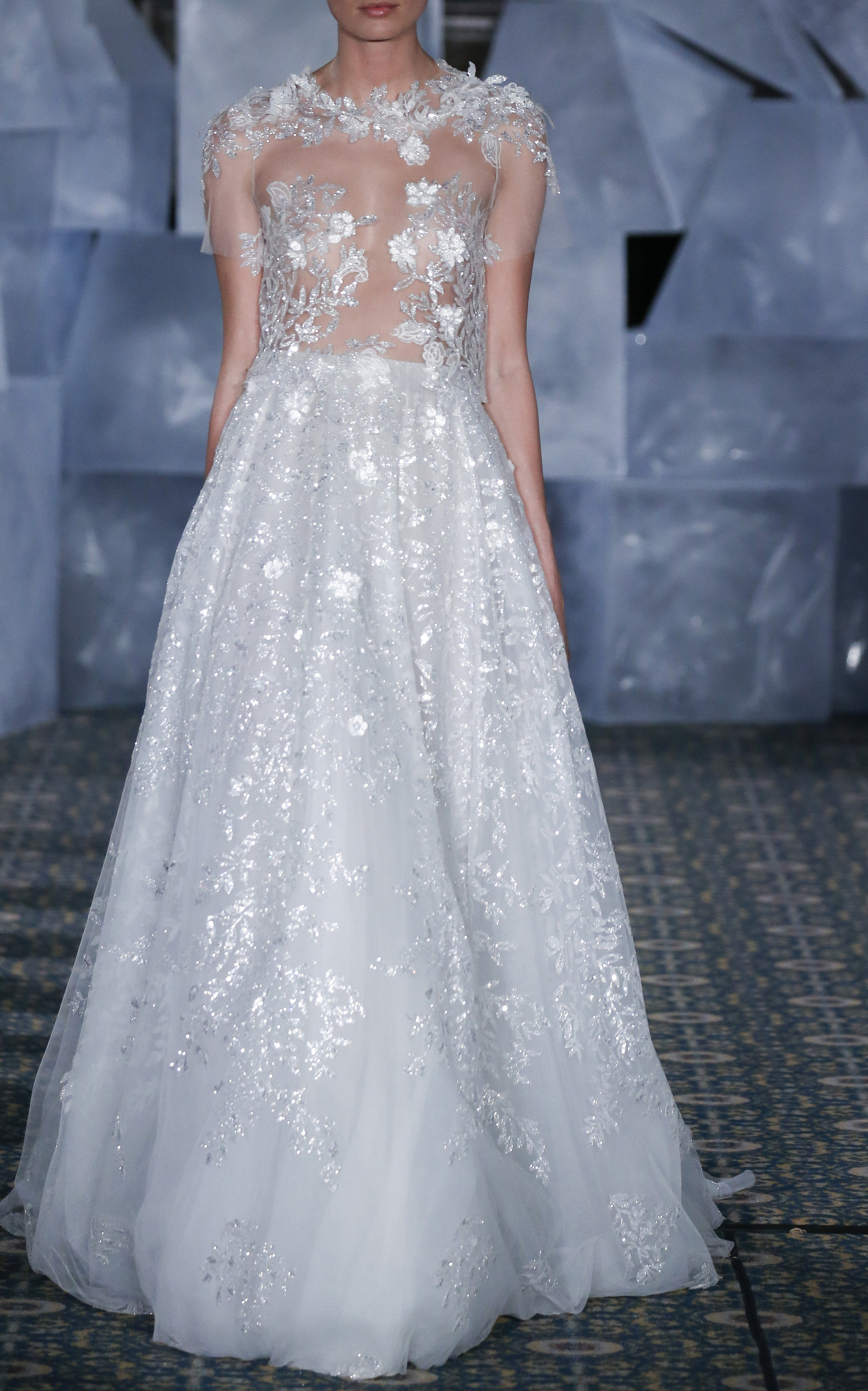 MIRA ZWILLINGER AMELY EMBROIDERED GOWN