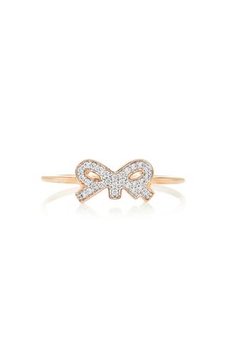 GINETTE NY | Ginette NY Tiny Diamond 18K Rose Gold Ring | Goxip