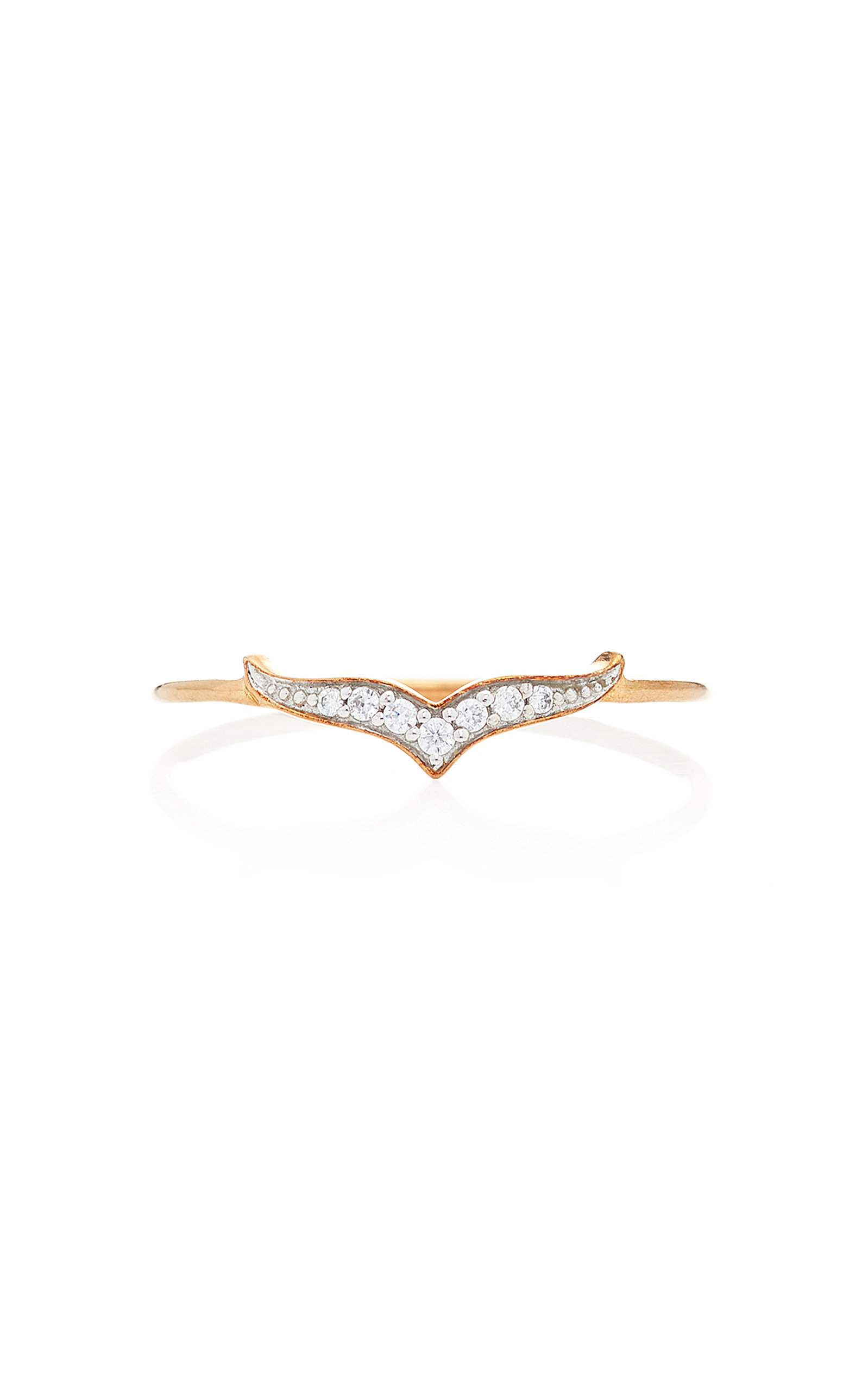GINETTE NY Wise Diamond And 18K Rose Gold Ring in Pink