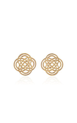 GINETTE NY | Ginette NY Purity 18K Rose Gold Stud Earrings | Goxip