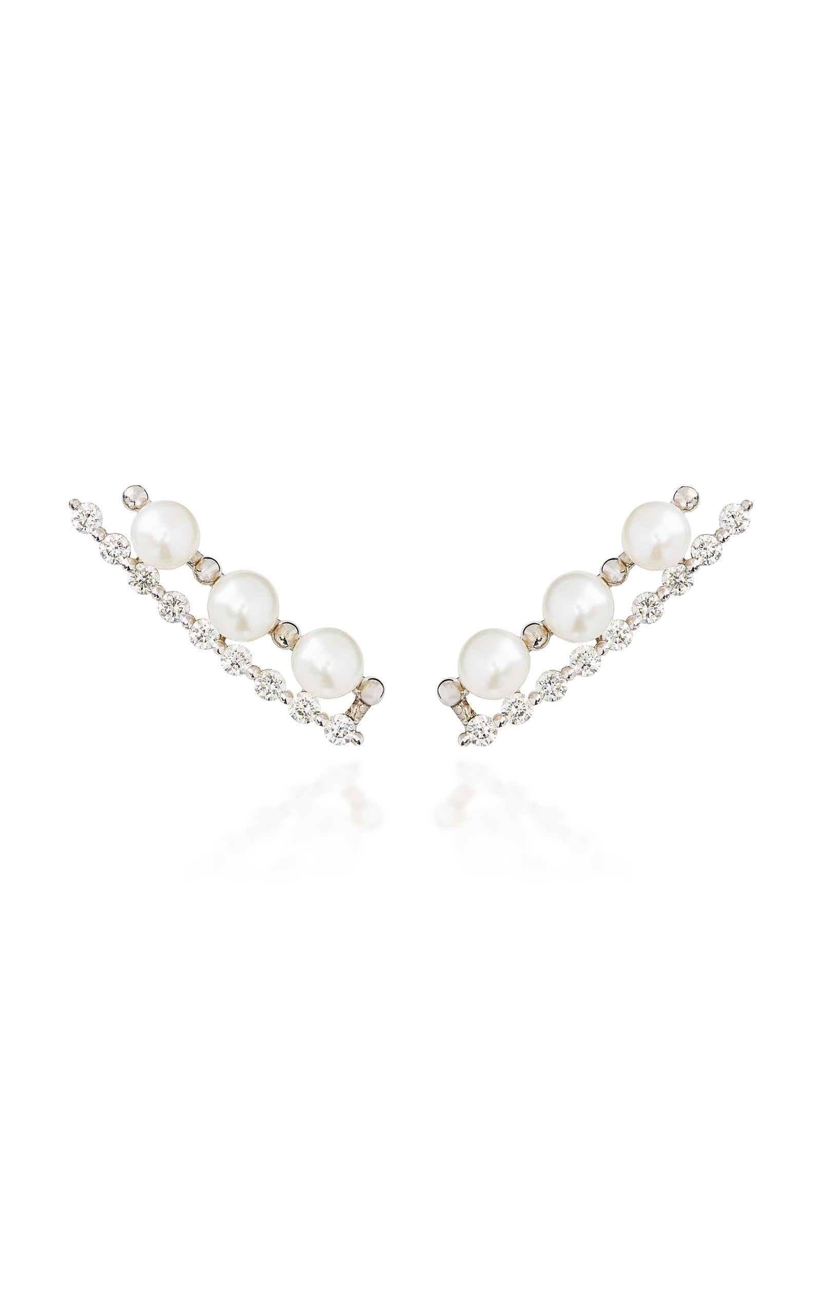 COLETTE JEWELRY Masai 18K White Gold And Diamond Ear Climber