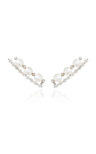 COLETTE JEWELRY | Colette Jewelry Masai 18K White Gold And Diamond Ear Climber | Goxip
