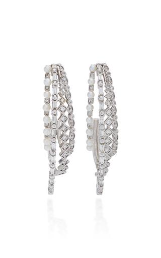 COLETTE JEWELRY | Colette Jewelry Mesh 18K White Gold Ear Cuff | Goxip