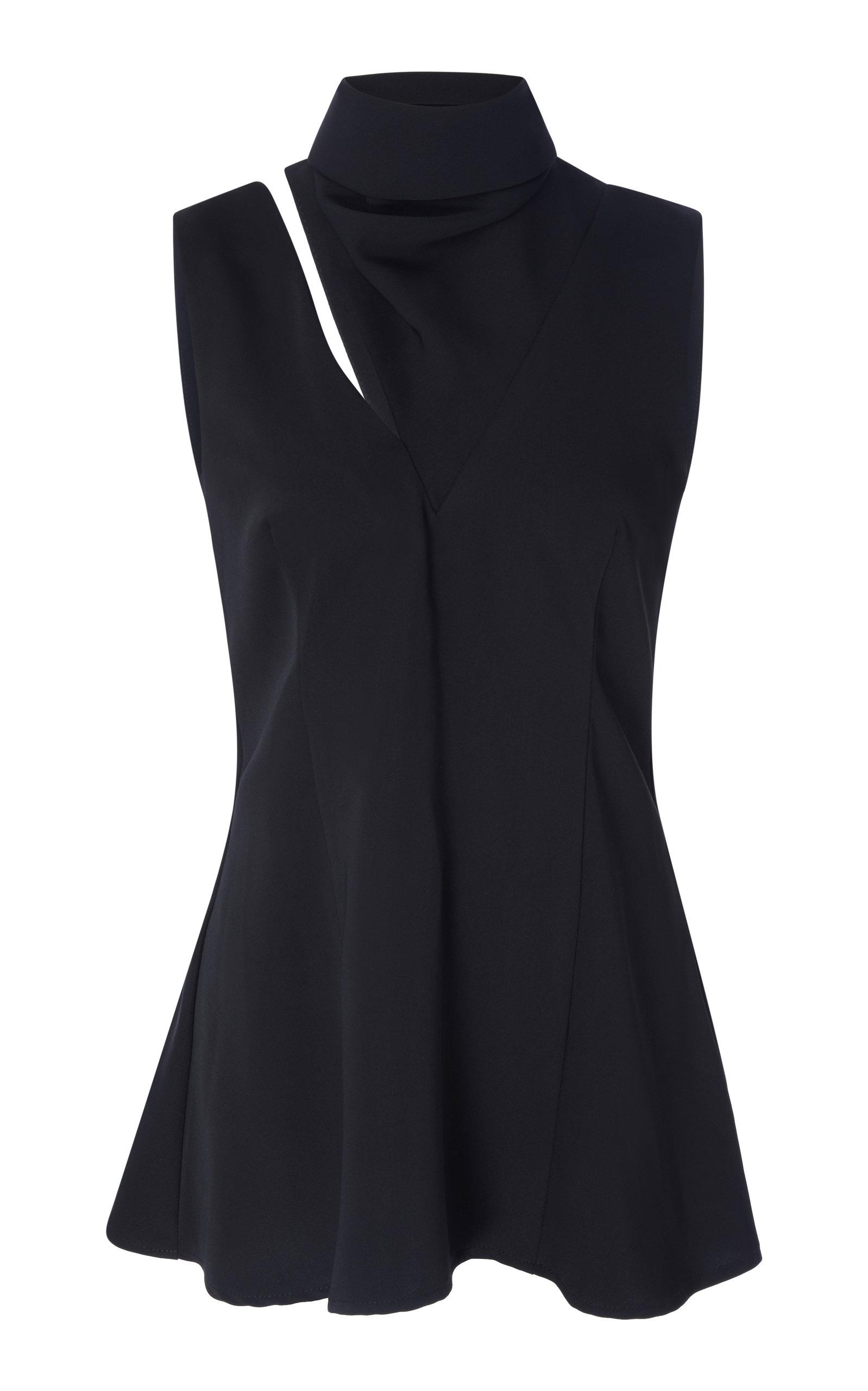 de449df2ca4add Beaufille Funnel Neck Sleeveless Top In Black