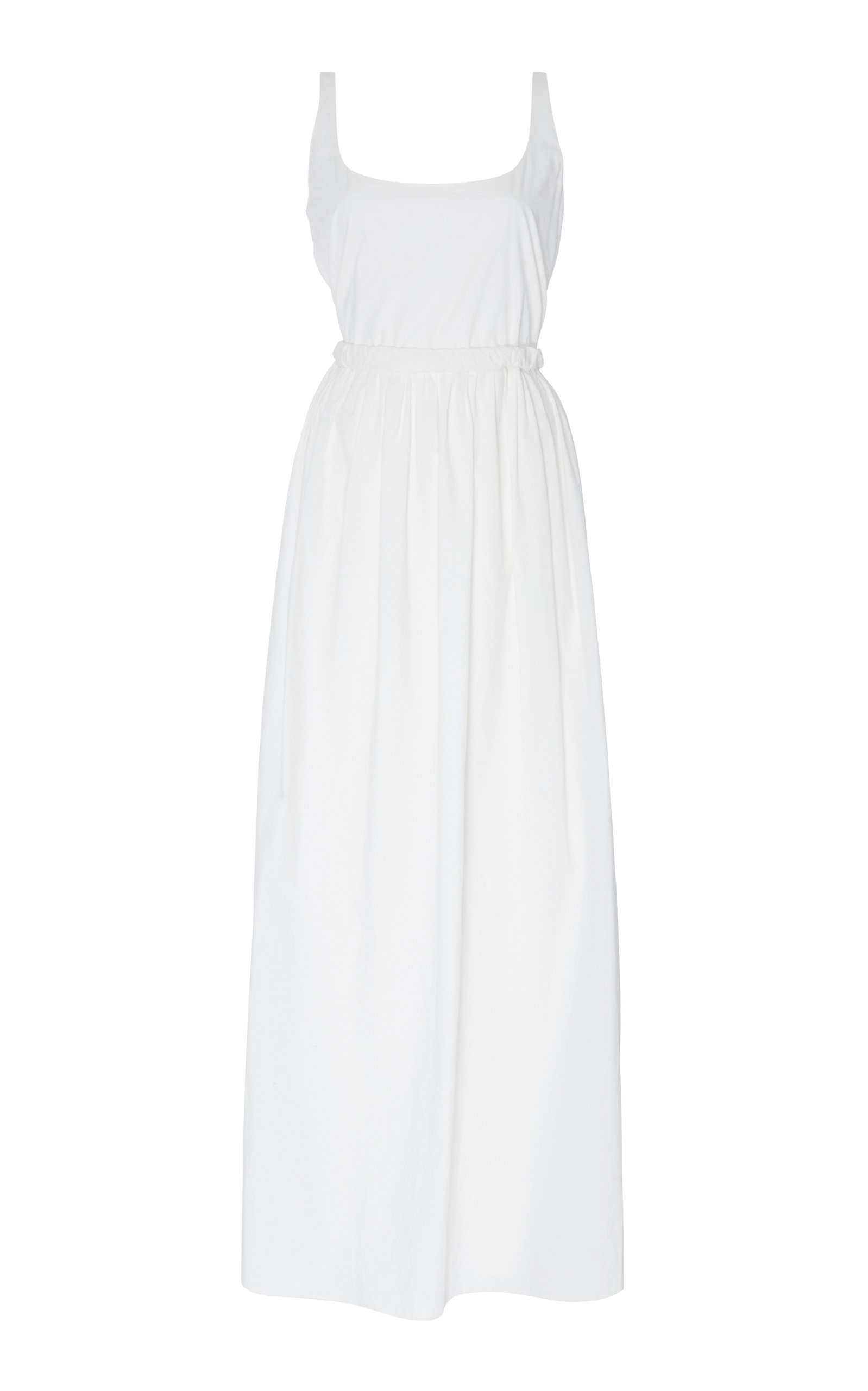 Oriana Cotton-Poplin Maxi Dress, White