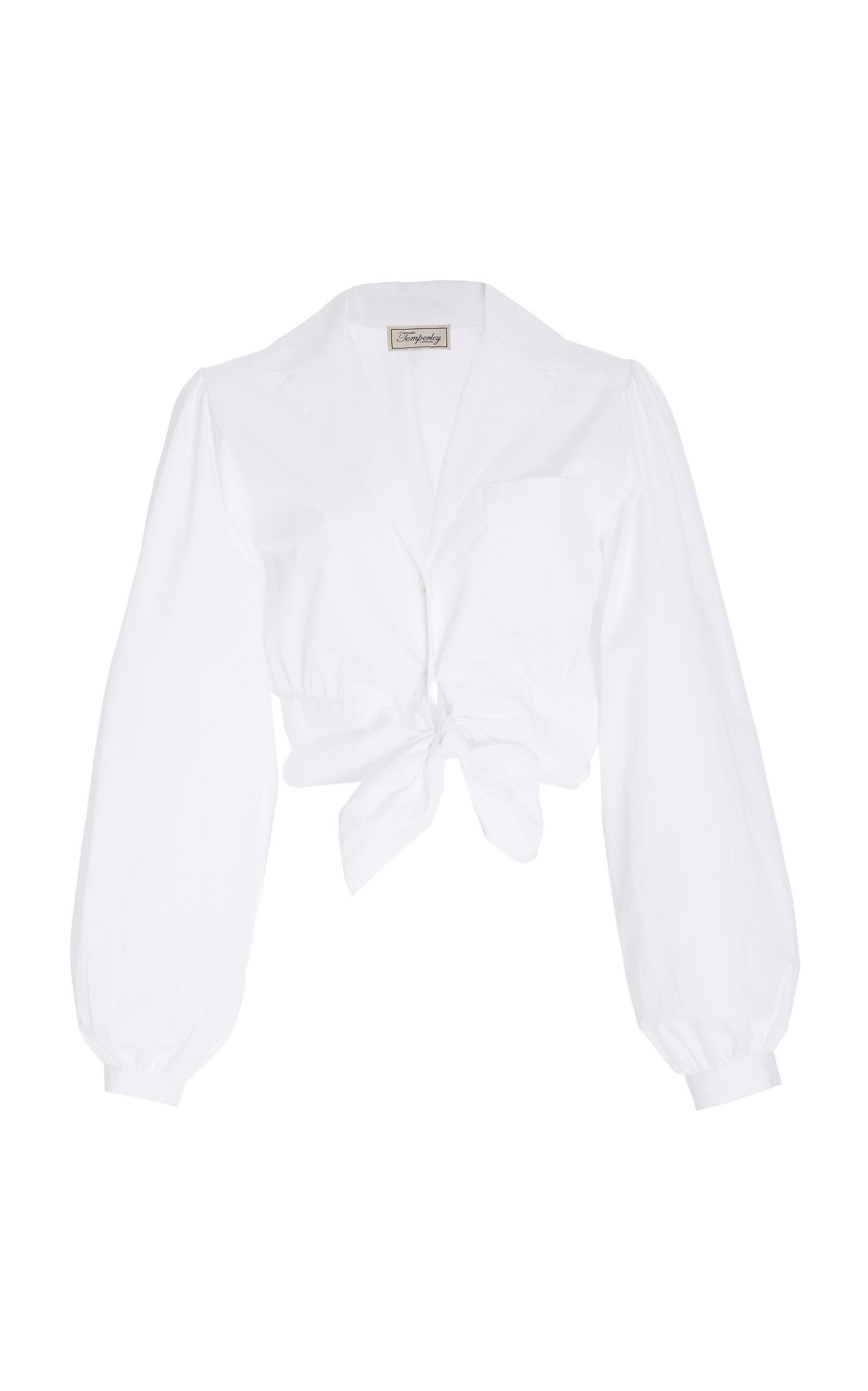 Temperley London ISLA CROPPED SHIRT
