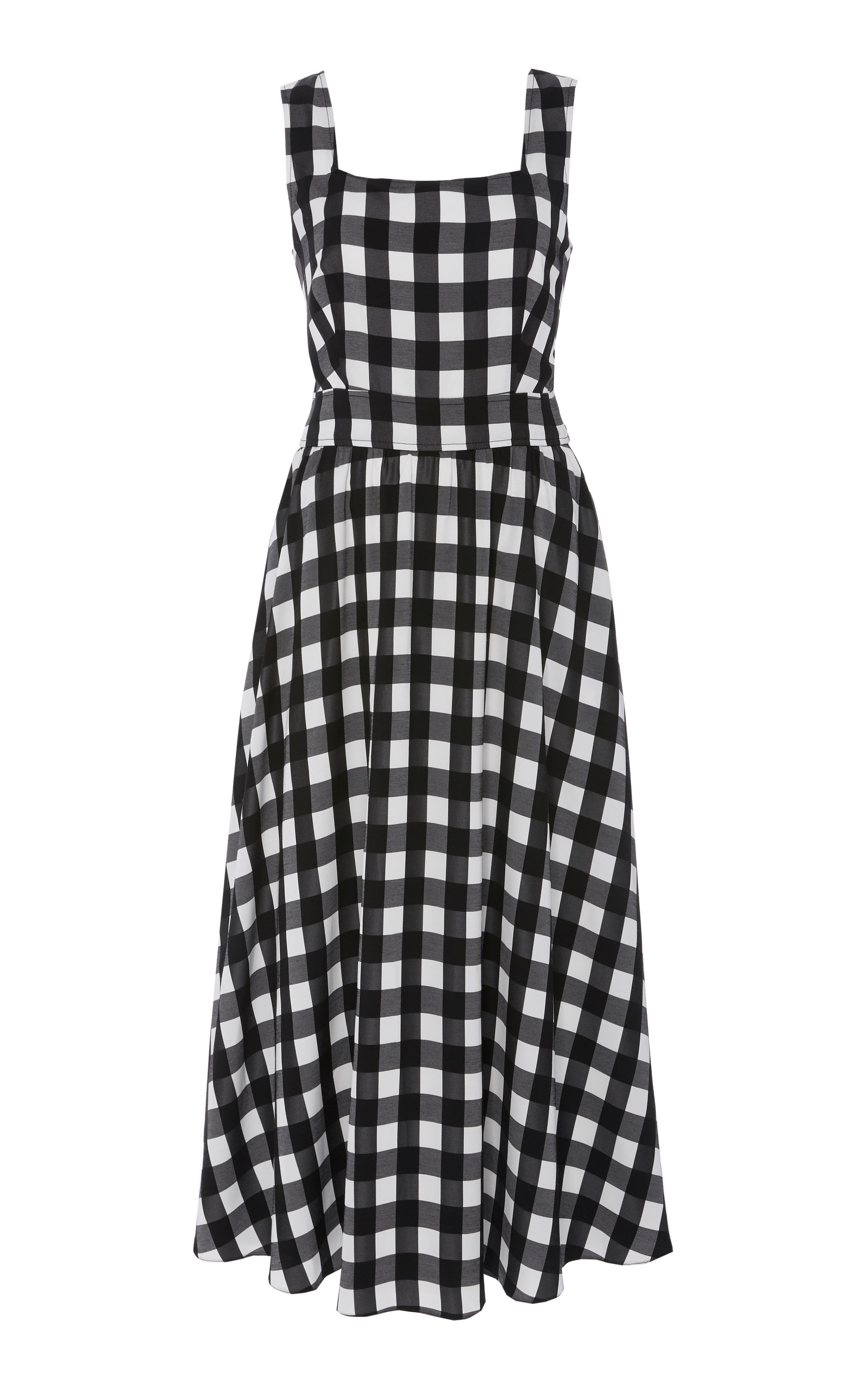 Temperley London STIRLING GINGHAM VOILE MIDI DRESS
