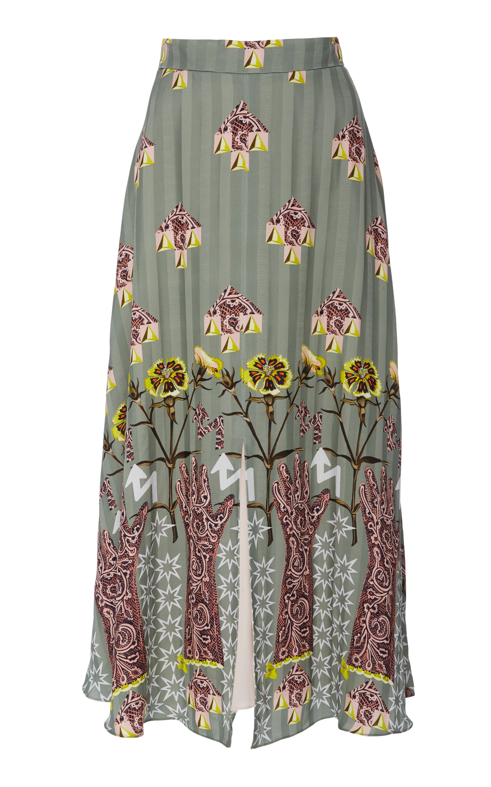Temperley London FLUX MIDI SKIRT