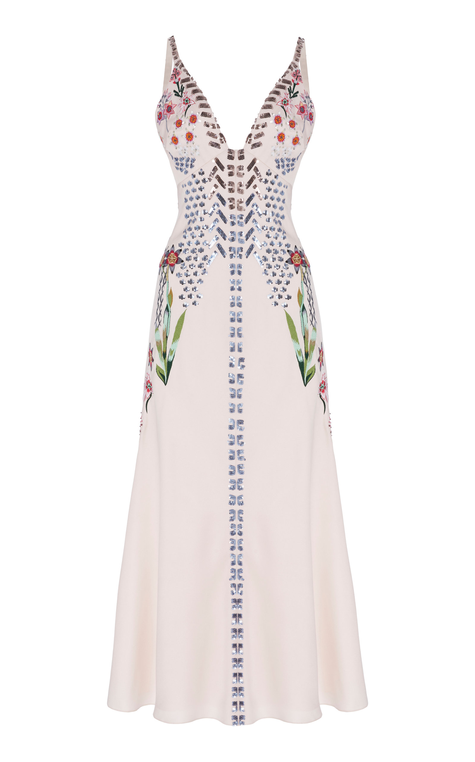Temperley London Embellished Crepe Midi Drress