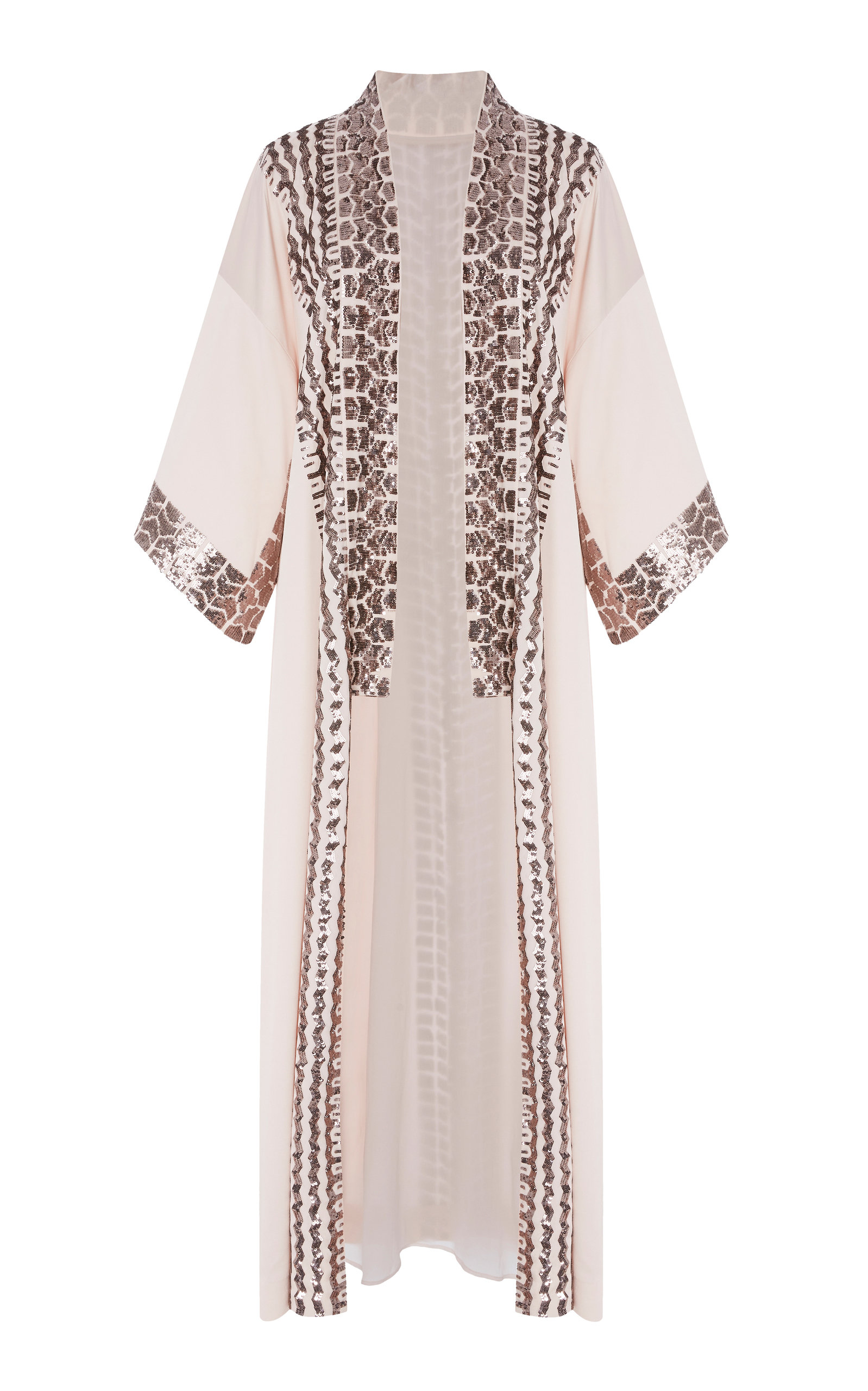 Temperley London LUMINARY SEQUINED CREPE KIMONO