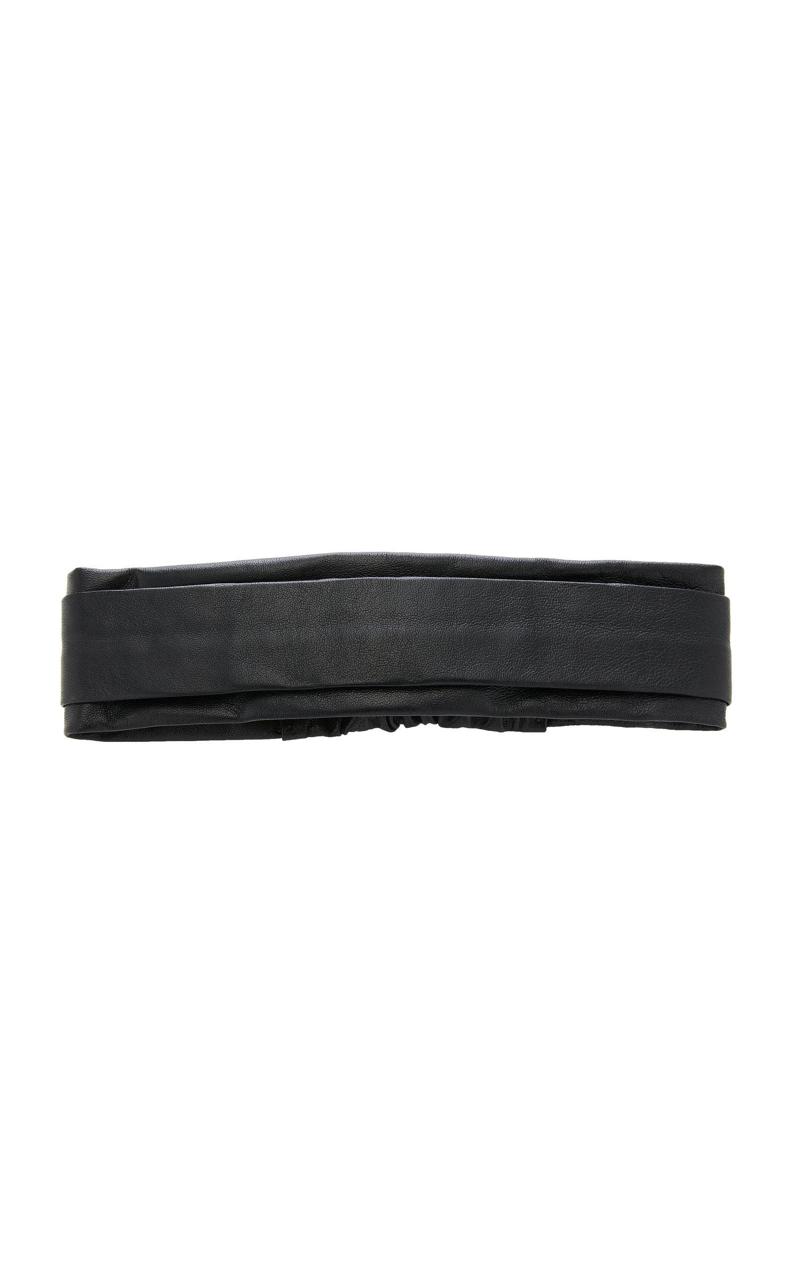 EPONA VALLEY Narrow Leather Headband in Black