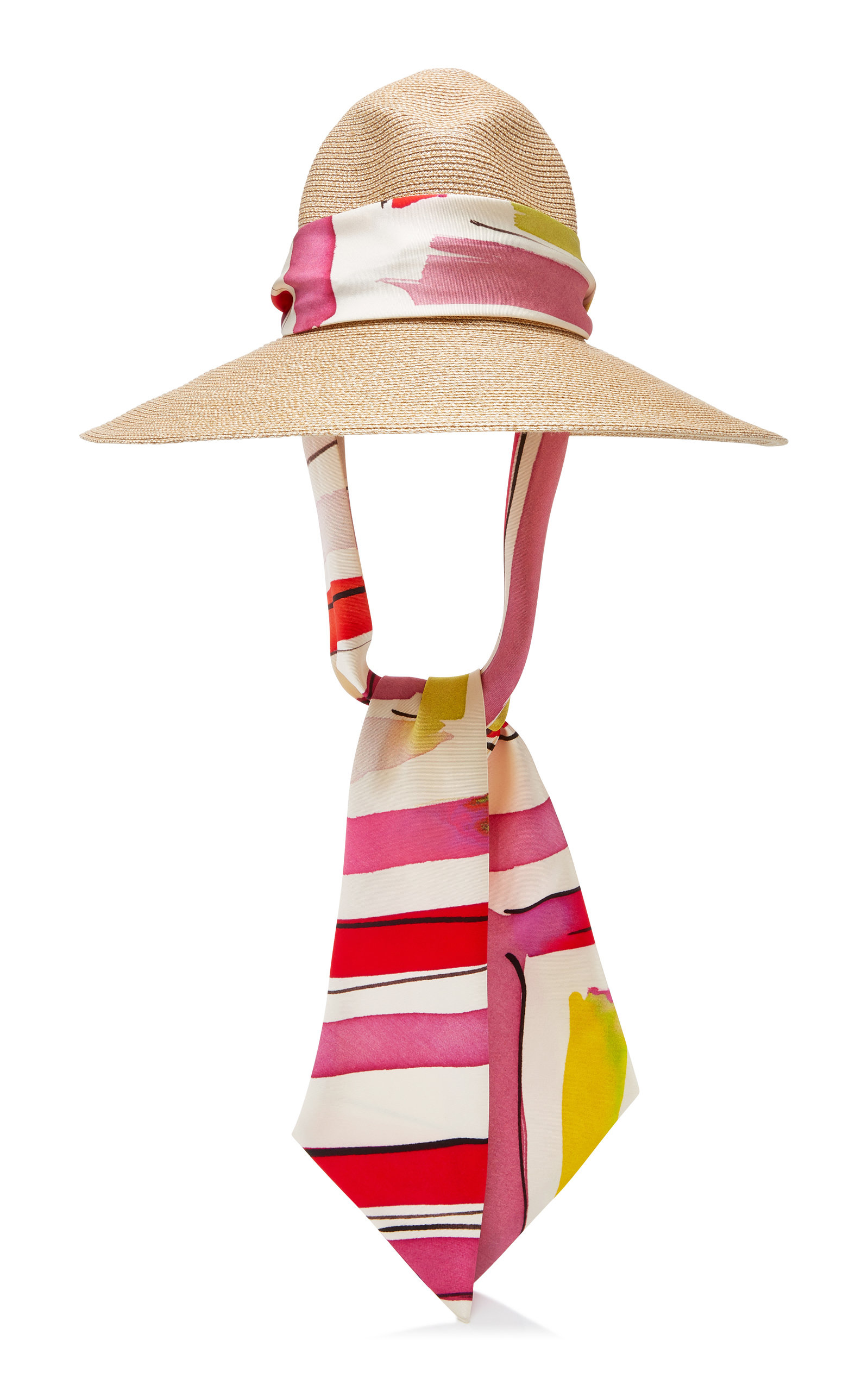 Eugenia Kim Cassidy Silk Satin-Trimmed Straw Hat In Neutral  b20fb2117e08