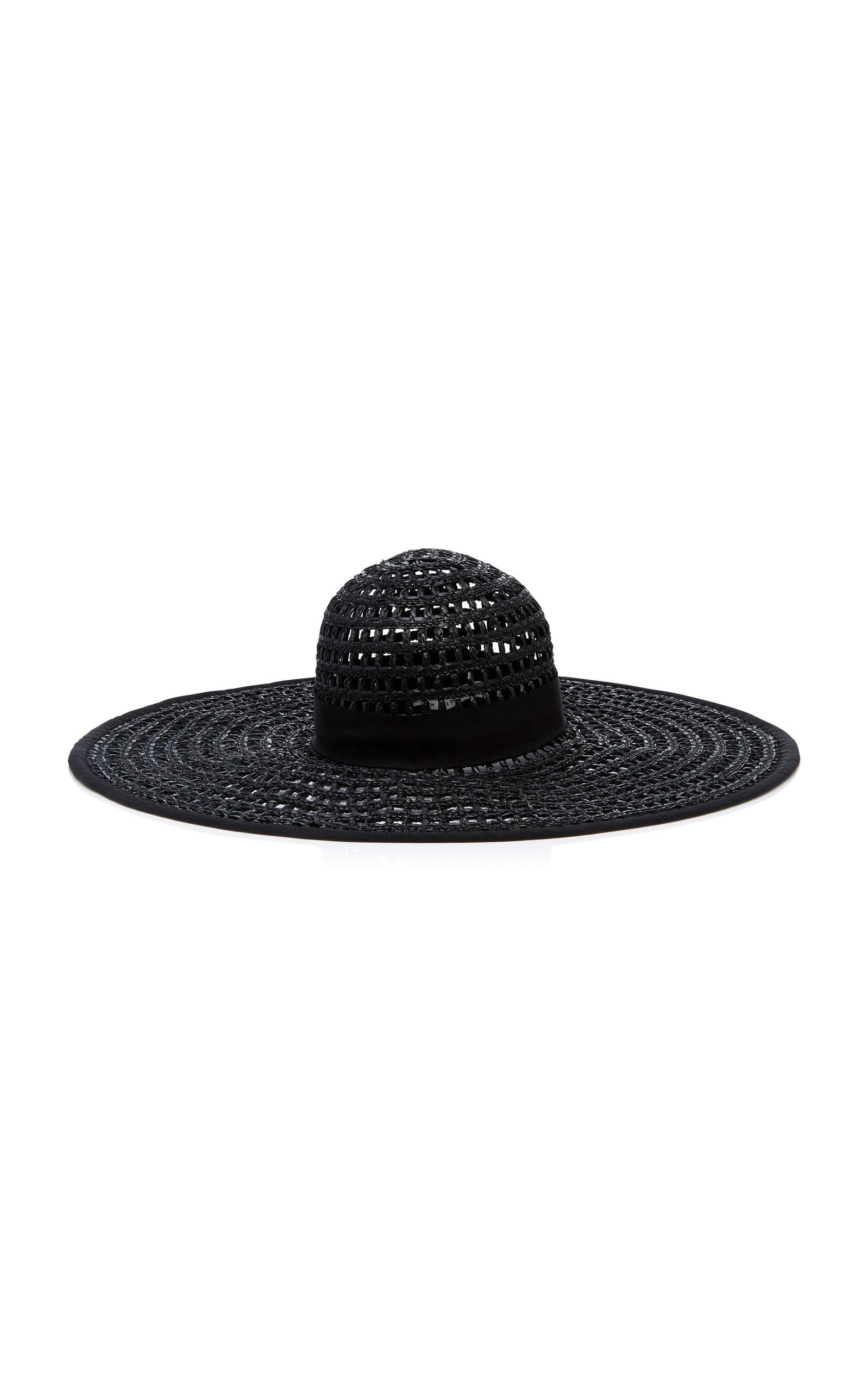 EUGENIA KIM Sunny Woven Black Sunhat
