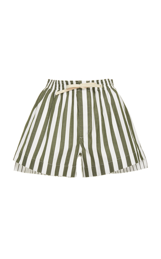 MONSE | MONSE Striped Cotton-Canvas Shorts | Goxip