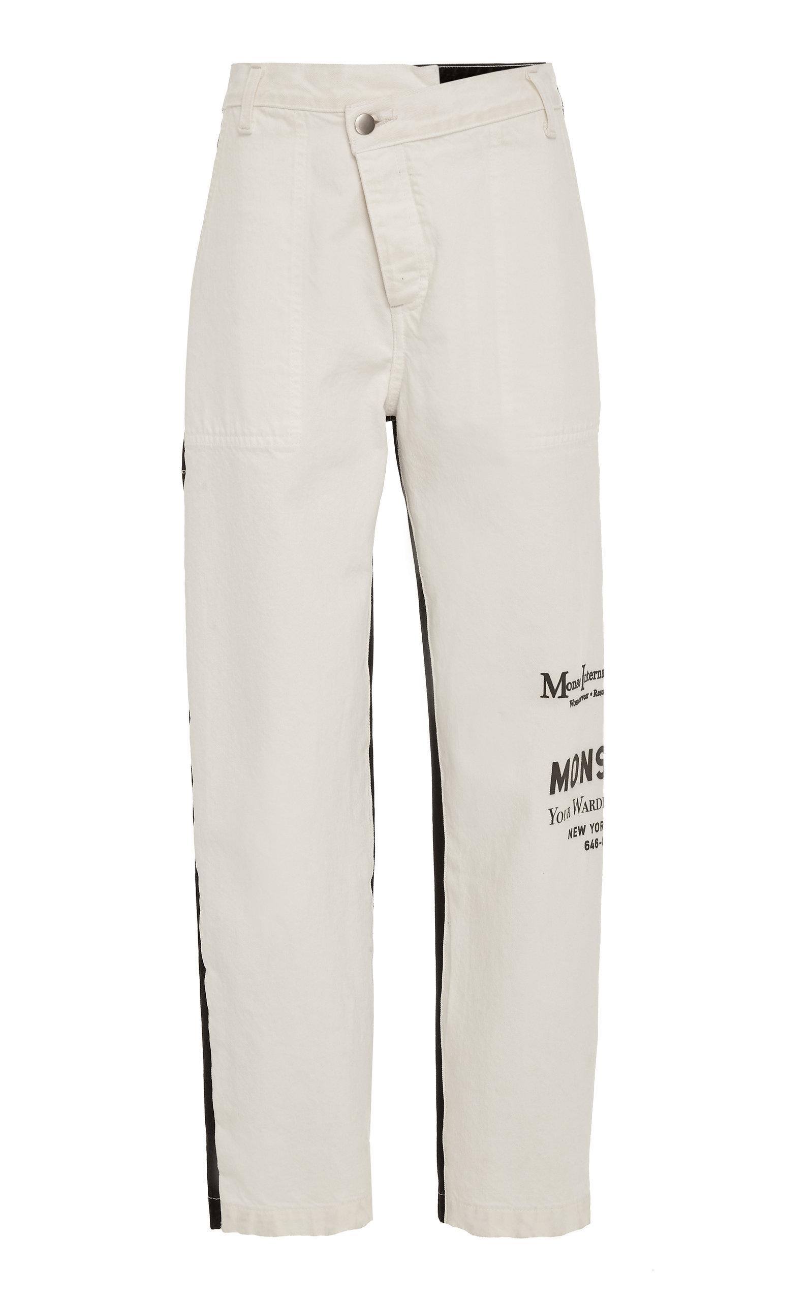 dacfcf3f55 Monse Half Half Jeans In Black White