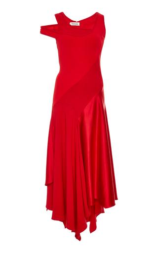 MONSE | MONSE Patchwork Crepe And Satin Midi Dress | Goxip