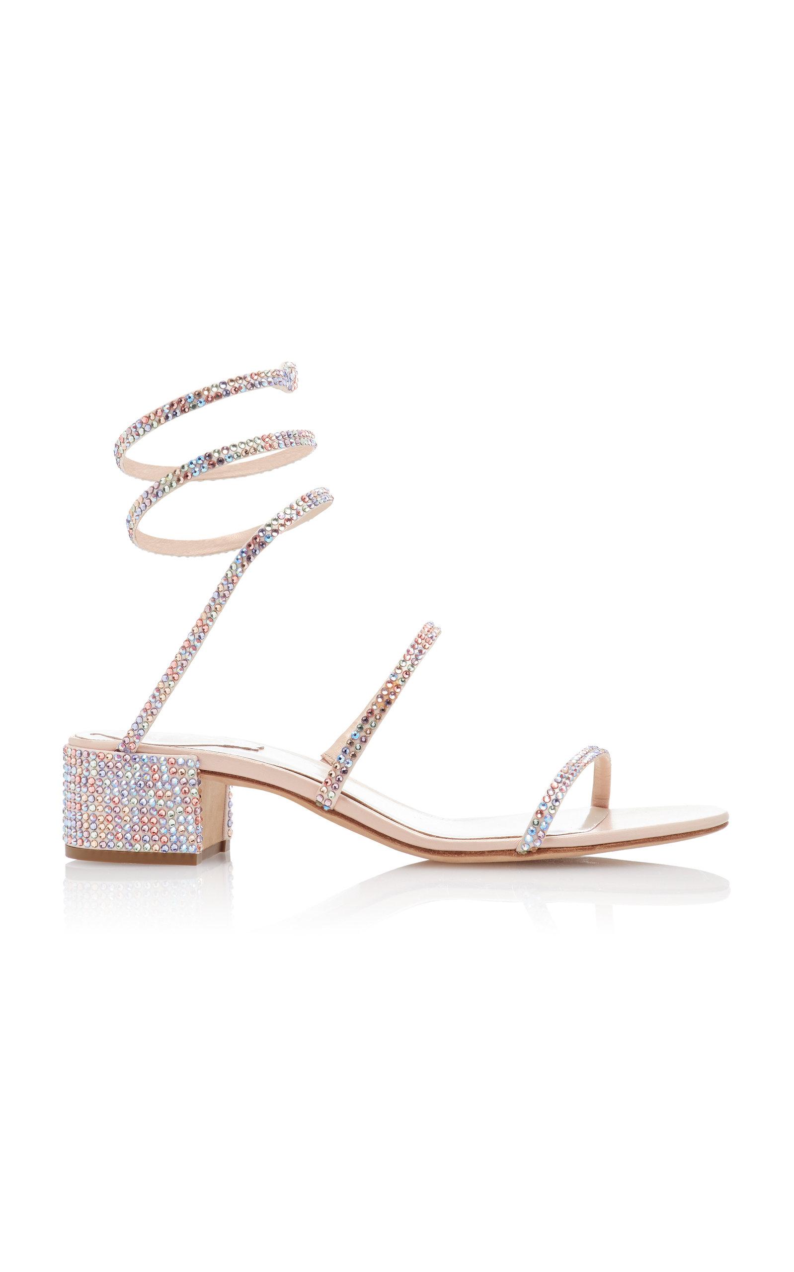 f2035ecec Rene CaovillaCrystal-Embellished Satin Sandals. CLOSE. Loading