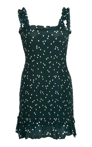 FAITHFULL   Faithfull Del Mar Smocked Polka-Dot Voile Mini Dress   Goxip