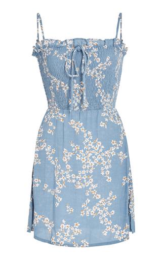 FAITHFULL   Faithfull Marni Smocked Voile Mini Dress   Goxip