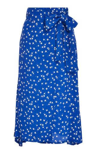 FAITHFULL | Faithfull Valencia Floral Voile Wrap Midi Skirt | Goxip