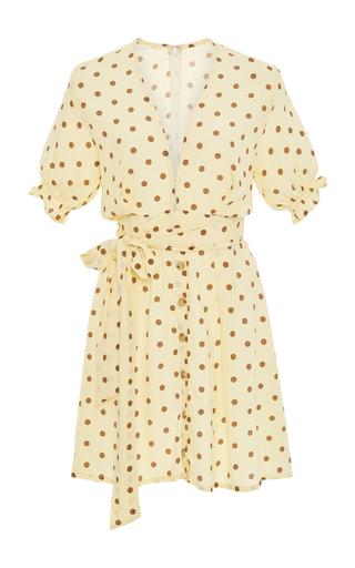 FAITHFULL THE BRAND   Faithfull The Brand Vanelli Belted Polka-Dot Voile Mini Dress   Goxip