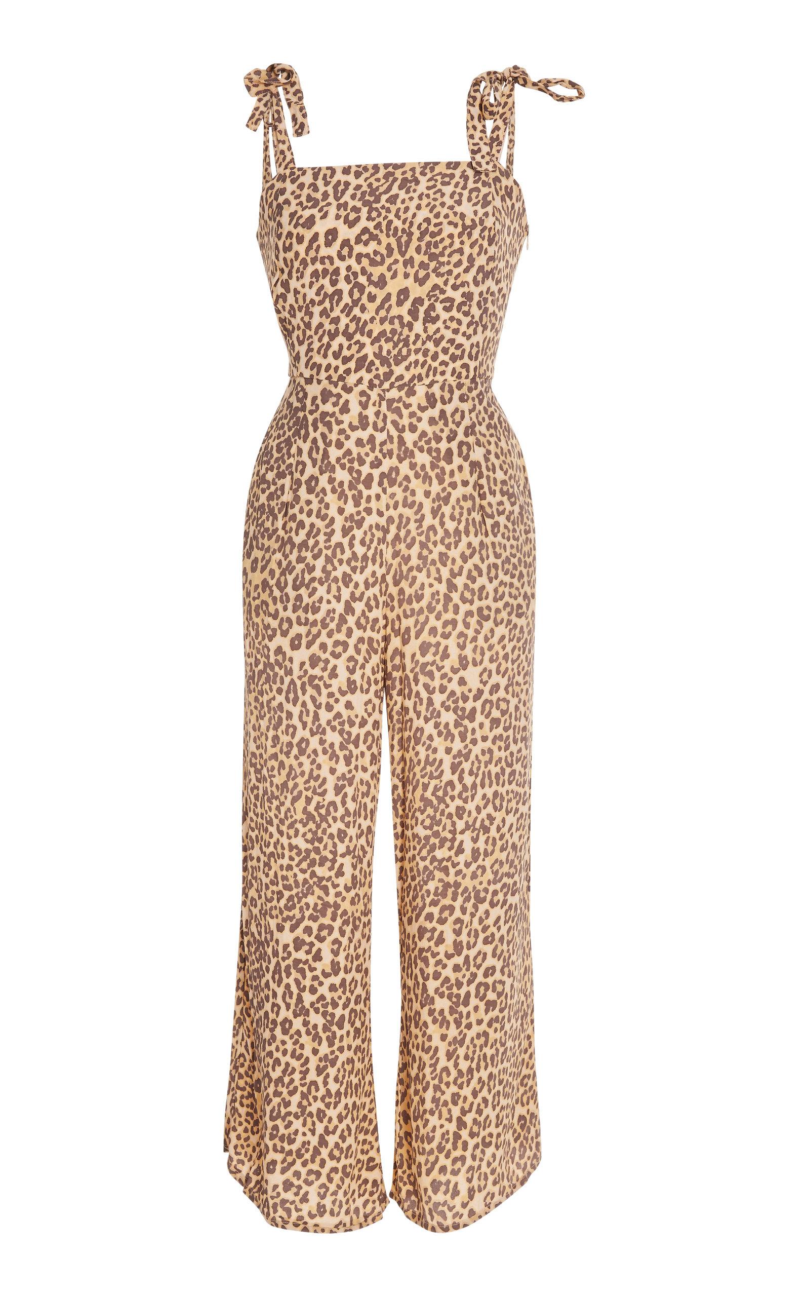 FAITHFULL THE BRAND | Faithfull The Brand Elsa Leopard-Print Voile Jumpsuit | Goxip