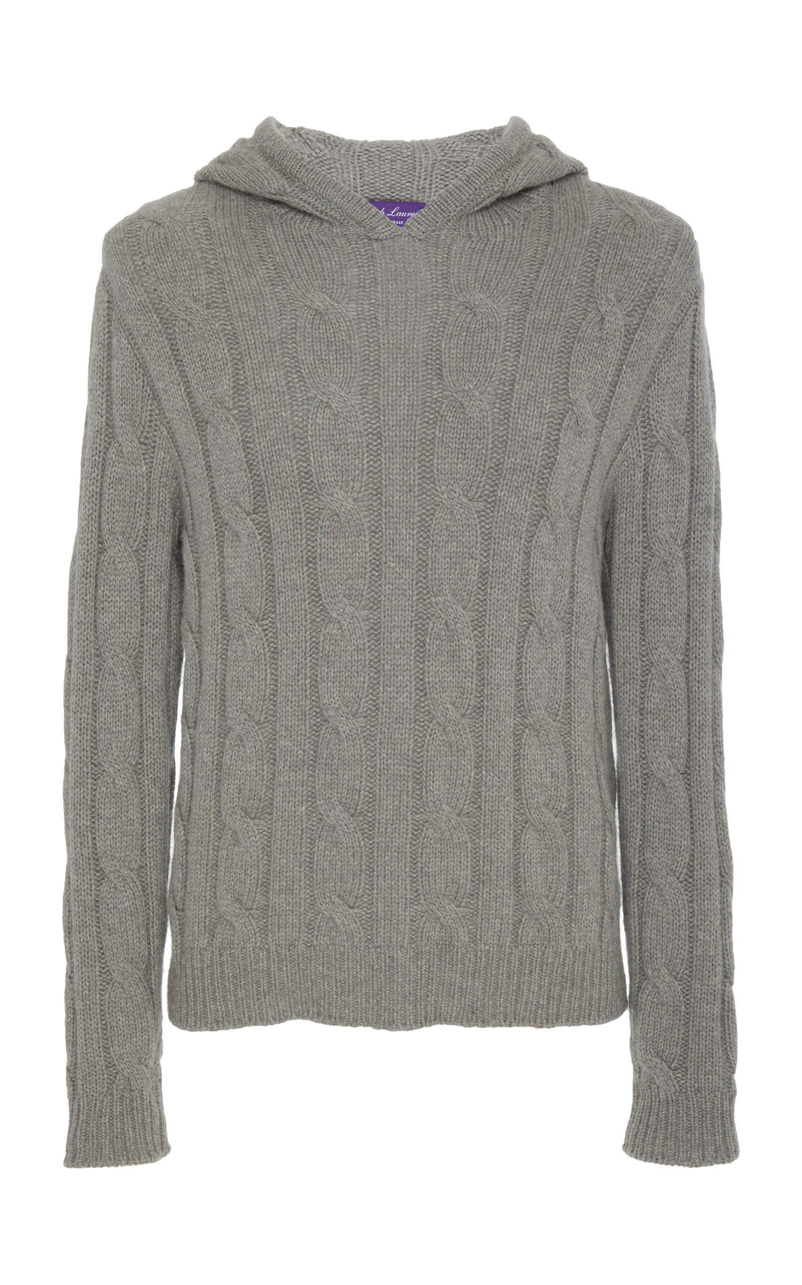 9eb9f57fd Ralph LaurenCable Knit Cashmere Hoodie. CLOSE. Loading