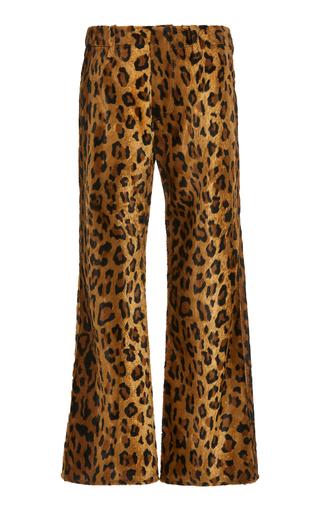 PHILOSOPHY DI LORENZO SERAFINI | Philosophy di Lorenzo Serafini Leopard-Print Cotton-Blend Velvet Cropped Trousers | Goxip