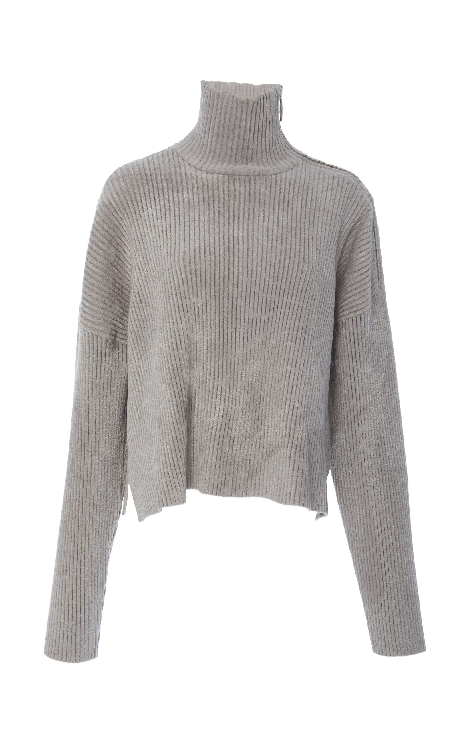 835af06fa8276a Zip-Detailed Ribbed-Knit Turtleneck Sweater by Sally LaPointe | Moda ...