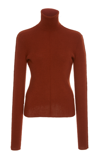 SALLY LAPOINTE | Sally LaPointe Ribbed Cashmere And Silk-Blend Turtleneck Top | Goxip