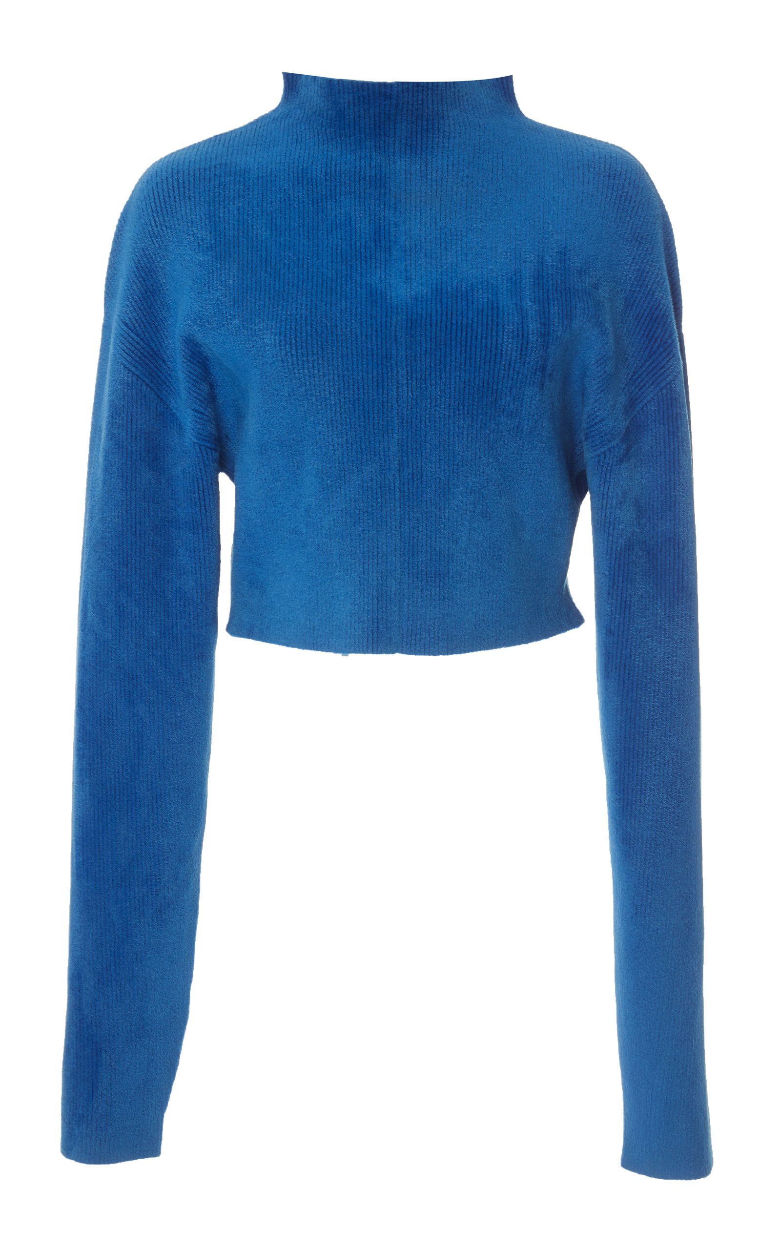 Chenille Cropped Mockneck Top Sally Lapointe Cheap Sale Cheapest Huge Surprise For Sale Clearance Wide Range Of Discount Geniue Stockist V4aij