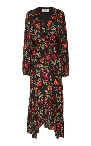 A.L.C. | A.L.C. Stanwyck Tiered Floral-Print Crepe De Chine Midi Dress | Goxip