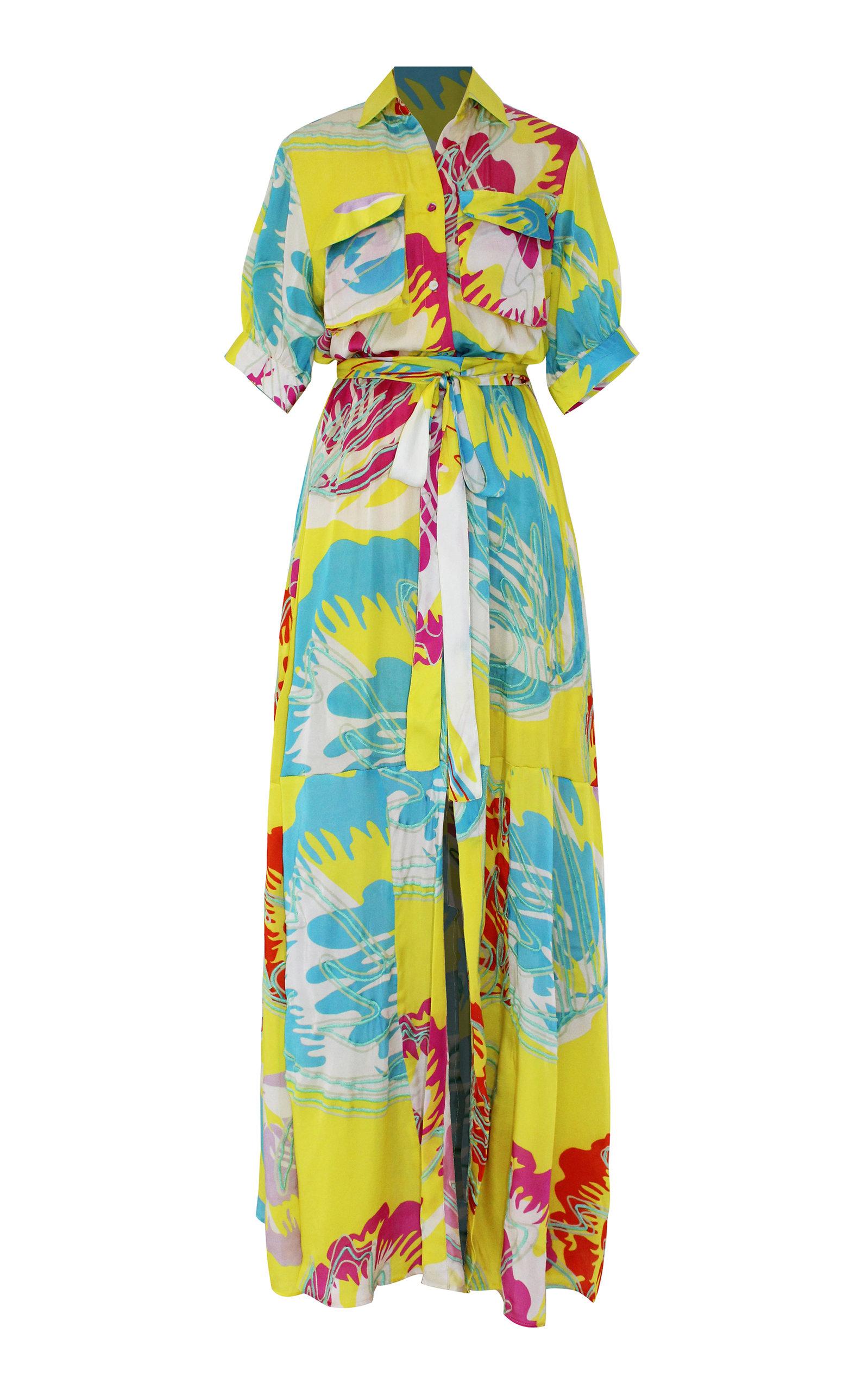 ALL THINGS MOCHI | All Things Mochi Prisha Printed Satin Maxi Dress | Goxip