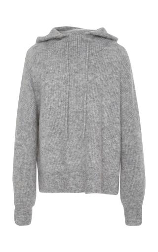 GANNI | Ganni Ribbed Wool-Blend Hooded Top | Goxip