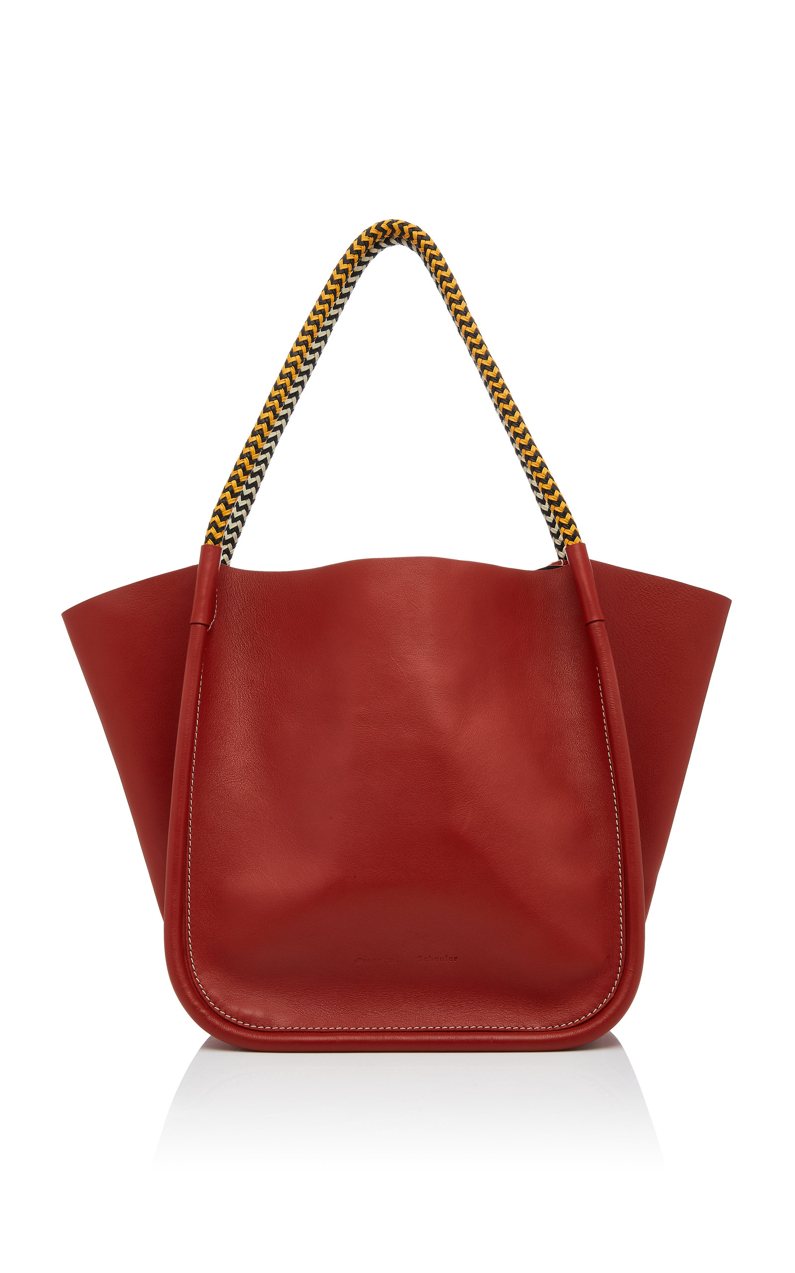 Proenza Schouler Totes L Contrast Handle Leather Tote