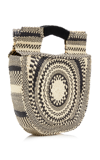 Sensi StudioTwo-Tone Straw Handbag cfd9b528c4809